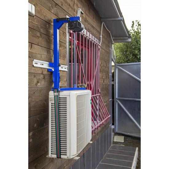 """Sollevatore/Elevatore Manuale per Climatizzatori/Condizionatori d'Aria/Motocondensanti - Certificato """"CE"""""""