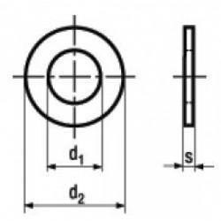 Rosette Piane per Viti a Testa Cilindrica in Ottone DIN 433-1