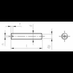 Grani ad Intaglio con Estremità Piatta in Ottone DIN 551