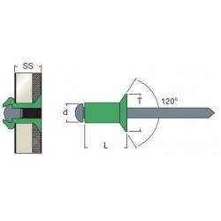 Rivetti Testa Svasata Alluminio / Acciaio