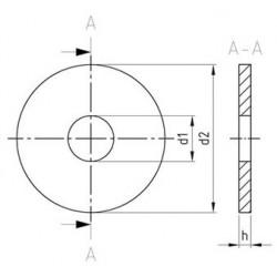 Piastrine Per Legno Da Costruzione Tipo R Inox DIN 440