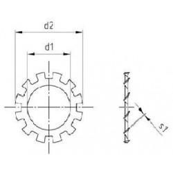 Rondelle Elastiche Dentate Piane Inox DIN 6797 Tipo A