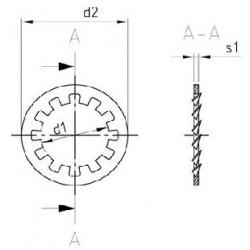 Rondelle Elastiche Dentate Piane Inox DIN 6797 Tipo J