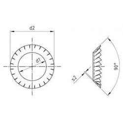 Rondelle di Sicurezza Dentate a Ventaglio Inox DIN 6798 Tipo V