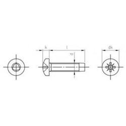 Viti Testa Cilindrica Automaschianti Croce Inox DIN7500C