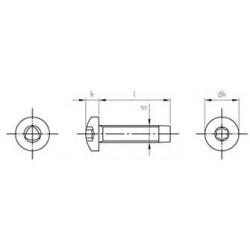 Viti Testa Cilindrica Automaschianti Torx Inox DIN7500C