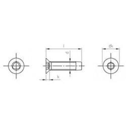 Viti Testa Svasata Piana Automaschianti Torx Inox DIN 7500M