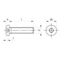 Viti Testa Bombata con Esagono Incassato Inox ISO 7380-1