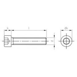 Viti Testa Cilindrica Con Cava Esagonale Interamente Filettata Inox DIN 912