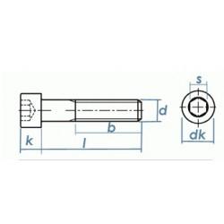 Viti Testa Cilindrica Con Cava Esagonale Parzialmente Filettata Inox DIN 912