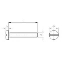 Viti Testa Cilindrica Ribassata Torx Inox ISO 14580