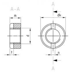 Dadi Cilindrici Ad Intaglio DIN 546 Inox