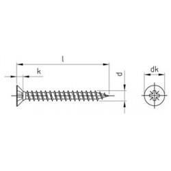 Viti Truciolari Testa Svasata Piana Impronta Croce Pz Inox Pv.9050