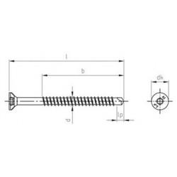 Viti Legno Autoforanti Testa Svasata Piana Torx Inox PV.9040