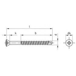 Viti Legno Autoforanti Testa Svasata Piana Torx Inox PV.9041