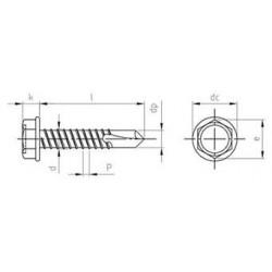 Viti Autoperforanti Testa Esagonale Flangiata Forma K Inox DIN 7504 K
