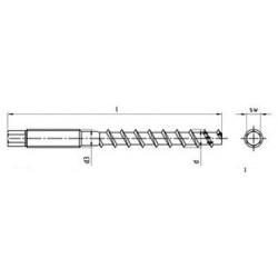 Viti per Cemento/ Metrico, a. esagonale ETA-06/0124