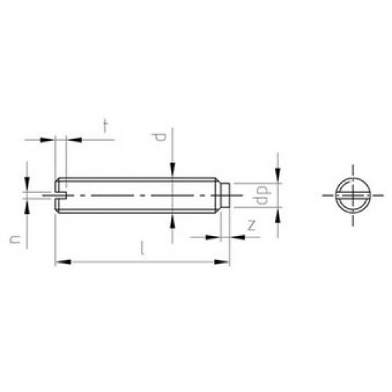 Grani Ad Intaglio Ad Estremità Cilindrica DIN 417 Inox