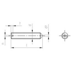 Grani Ad Intaglio Con Estremità Conica DIN 553 Inox