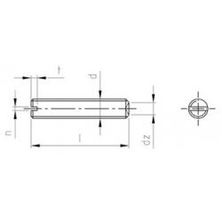 Grani Ad Intaglio Con Estremità Piana DIN 438 Inox