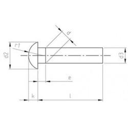 Ribattini Testa Cilindrica (Mezza Tonda) Inox DIN 660
