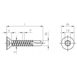Viti Autoperforanti Testa Svasata Piana Inox DIN 7504 Forma O