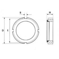 Ghiere Autobloccanti Con Anello In Nylon Tipo Normale(GUK) Classe 6 Passo Fine