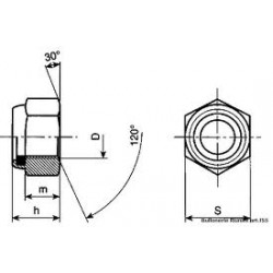 Dadi Esagonali Autobloccanti Alti Con Inserto In Nylon Classe 8/10 Passo Grosso