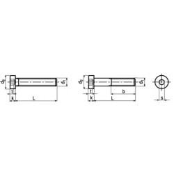 Viti Testa Cilindrica Bassa Esagono Incassato Interamente-Parzialmente Filettate DIN 7984 UNI 9327