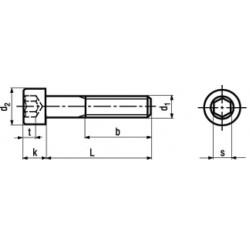 Viti Testa Cilindrica Esagono Incassato Parzialmente Filettate Classe 12.9 DIN 912 - UNI 5931 - ISO 4762