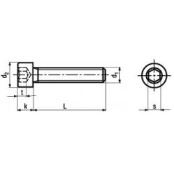 Viti Testa Cilindrica Interamente Filettate Classe 8.8 DIN 912 - UNI 5931 - ISO 4762