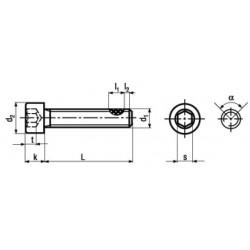 Viti Testa Cilindrica Interamente Filettate Classe 8.8 Rivestite in Tuflok DIN 912 - UNI 5931 - ISO 4762