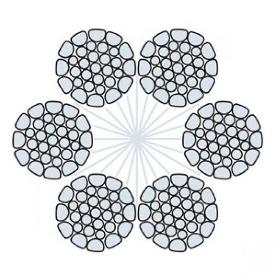 Funi di Acciaio a 6 Trefoli HDHP 6 FC COMPATTATA (zincata)
