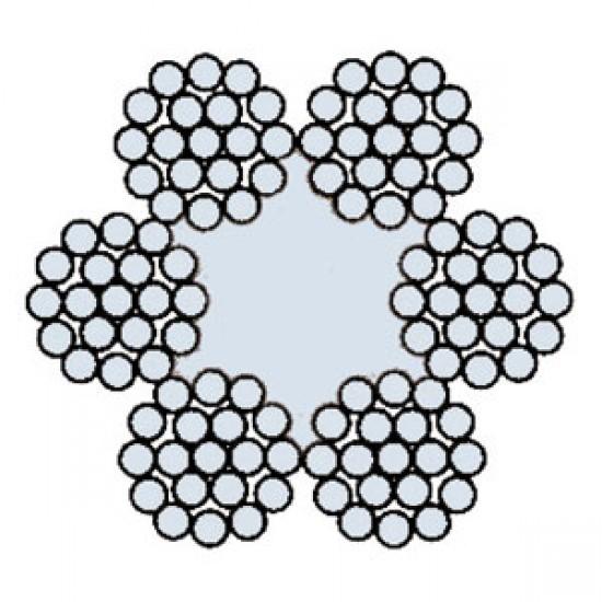 Funi di Acciaio a 6 Trefoli AZN 619 T (zincata)