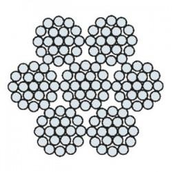 Funi di Acciaio a 6 Trefoli AZN 625 AC (zincata)