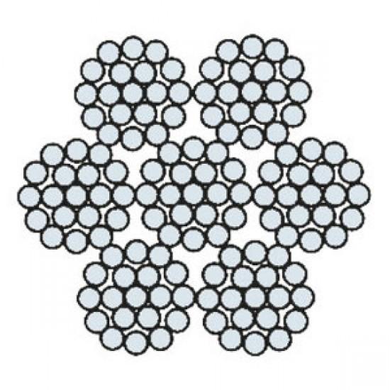 Funi di Acciaio a 6 Trefoli AZN 625 APP COM (zincata)