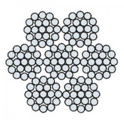 Funi di Acciaio a 6 Trefoli AZN 625 ACAR (zincata)