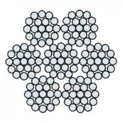 Funi di Acciaio a 6 Trefoli AZN 636 ACAR (zincata)
