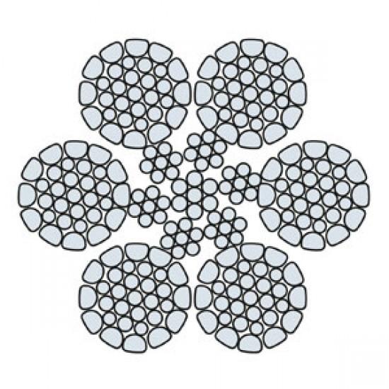 Funi di Acciaio a 6 Trefoli HDHP 6 COMPATTATA (zincata)