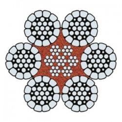 Funi di Acciaio a 6 Trefoli HYFIL 6 COMPATTATA PARALLELA PLASTIFICATA (zincata)