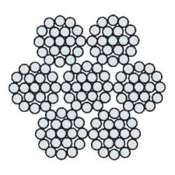 Funi di Acciaio a 6 Trefoli AZN 636 AC (zincata) AL 636 AC (lucida)