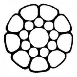 Funi di Acciaio Inossidabile IX 119 Spiroidale compattata