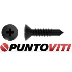 Viti Autoperforanti Testa Svasata Bombata Impronta a Croce DIN 7504 Zincatura / Brunitura Nera