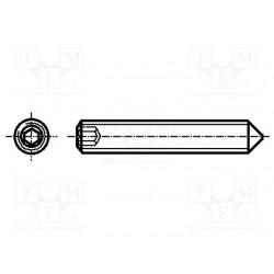 Viti Senza Testa / Grani con Esagono Incassato Estremità Conico DIN 914 ISO 4027