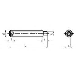 Viti Senza Testa / Grani con Esagono Incassato Estremità Cilindrica DIN 915 ISO 4028 UNI 5925