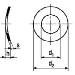 Rondelle Elastiche Curvate DIN 137A
