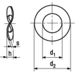 Rondelle Elastiche Ondulate DIN 137B