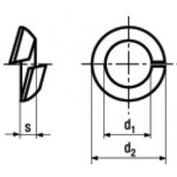 Rondelle Elastiche Sferiche Spaccate per Fissaggio di Ruote DIN 74361C