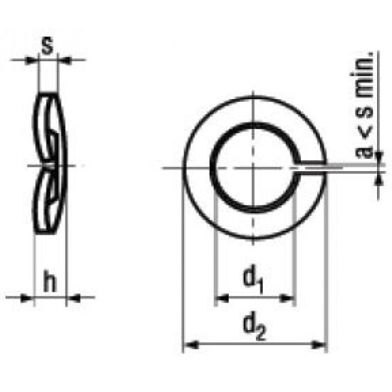 Rondelle Elastiche Spaccate Ondulate DIN 128B