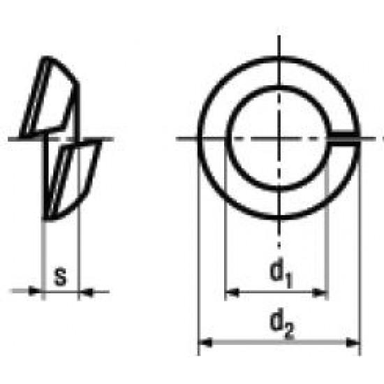 Rondelle Elastiche Spaccate Sferiche DIN 74361C